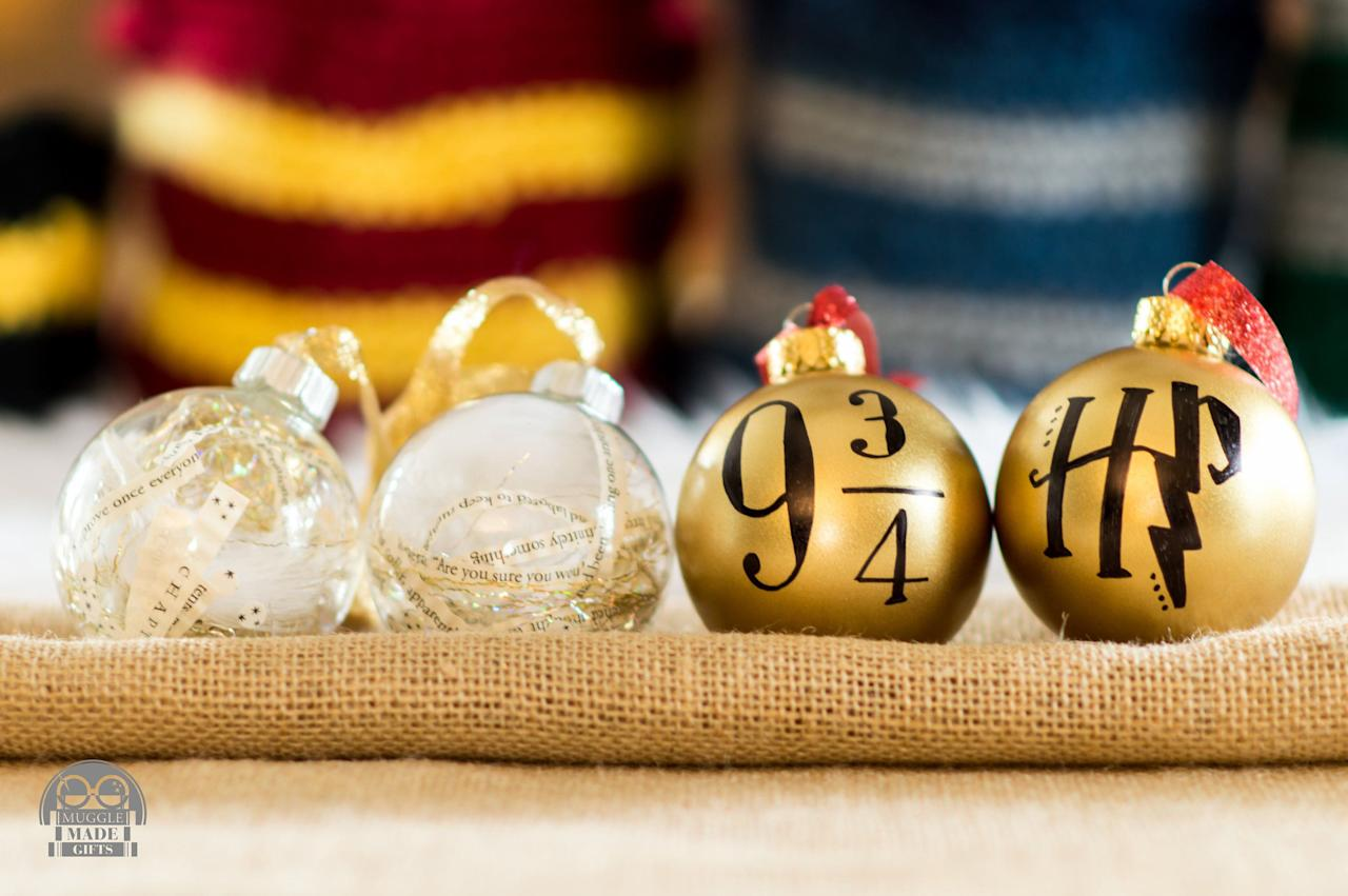 Magical Christmas Ornaments.24 Magical Christmas Ornaments All Harry Potter Fans Will Love