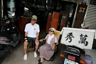 Chang Wan-ji, 83, and his wife Hsu Sho-er, 84, have racked up nearly 600,000 followers on Instagram over the last month as their attitude-filled fashion portraits went viral