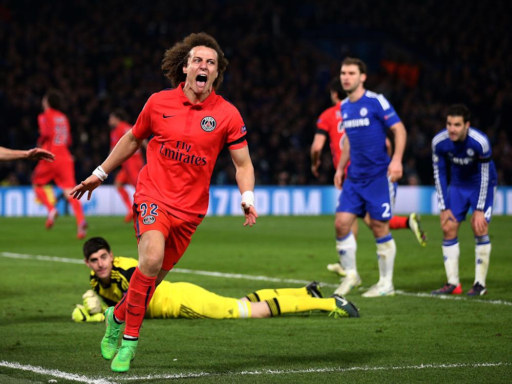 David Luiz scored a crucial away goal in extra time against Chelsea in 2015: Getty