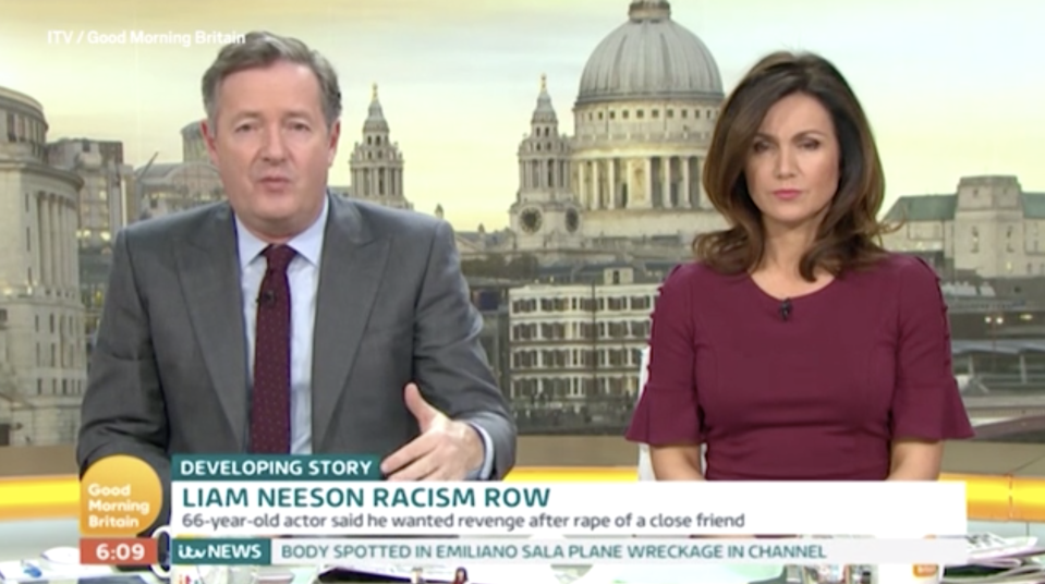Piers Morgan compares Liam Neeson's racist comments to something the KKK would say