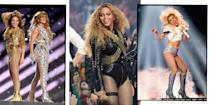 """<p>To mark 2021's<a href=""""https://www.elle.com/uk/life-and-culture/culture/a35306601/super-bowl-2021-performers/"""" rel=""""nofollow noopener"""" target=""""_blank"""" data-ylk=""""slk:Super Bowl halftime performance"""" class=""""link rapid-noclick-resp""""> Super Bowl halftime performance</a>, this time courtesy of <a href=""""https://www.elle.com/uk/life-and-culture/culture/a30039050/the-weeknd-heartless-bella-hadid-lyrics/"""" rel=""""nofollow noopener"""" target=""""_blank"""" data-ylk=""""slk:The Weeknd"""" class=""""link rapid-noclick-resp"""">The Weeknd</a>, we decided to take a trip down memory lane and look back on every Super Bowl outfit from the past 28 years. From Diana Ross to Lady Gaga, Britney Spears to Beyoncé there have been some amazing live shows given during the game's halftime, and with extravagant performances come extremely fun Super Bowl outfits. </p><p>Whether it be <a href=""""https://www.elle.com/uk/fashion/celebrity-style/g30747170/jennifer-lopez-shakira-super-bowl-halftime-fashion/"""" rel=""""nofollow noopener"""" target=""""_blank"""" data-ylk=""""slk:Jennifer Lopez in Versace"""" class=""""link rapid-noclick-resp"""">Jennifer Lopez in Versace</a> or Katy Perry in Jeremy Scott, here are the most fantastical Super Bowl costumes that ever graced the halftime show.</p>"""