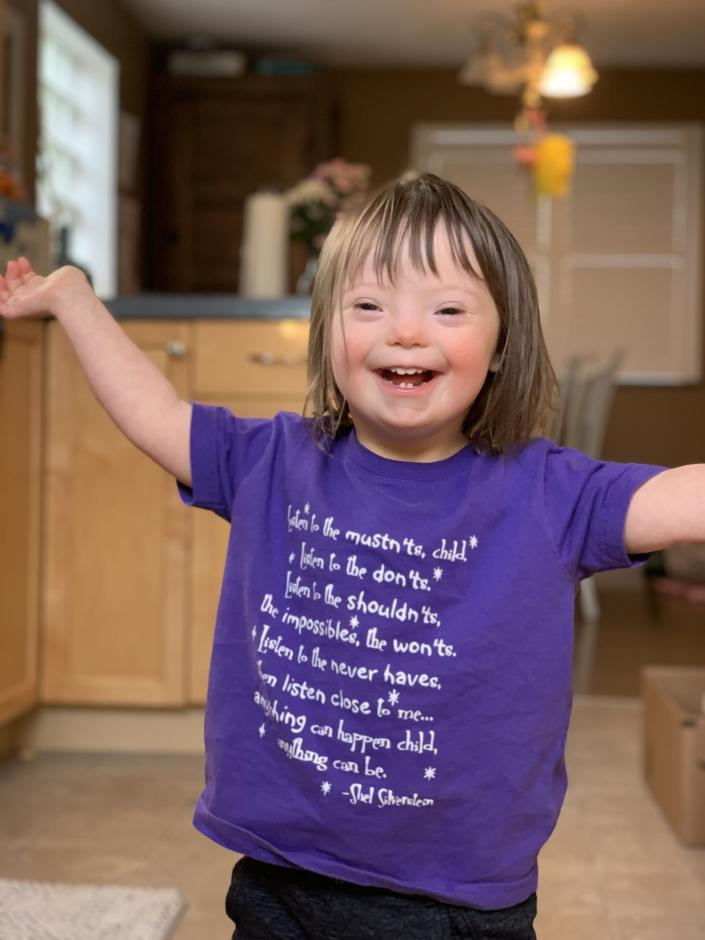 Shannon Striner's daughter, Sienna, who has Down syndrome (Courtesy of Shannon Striner)