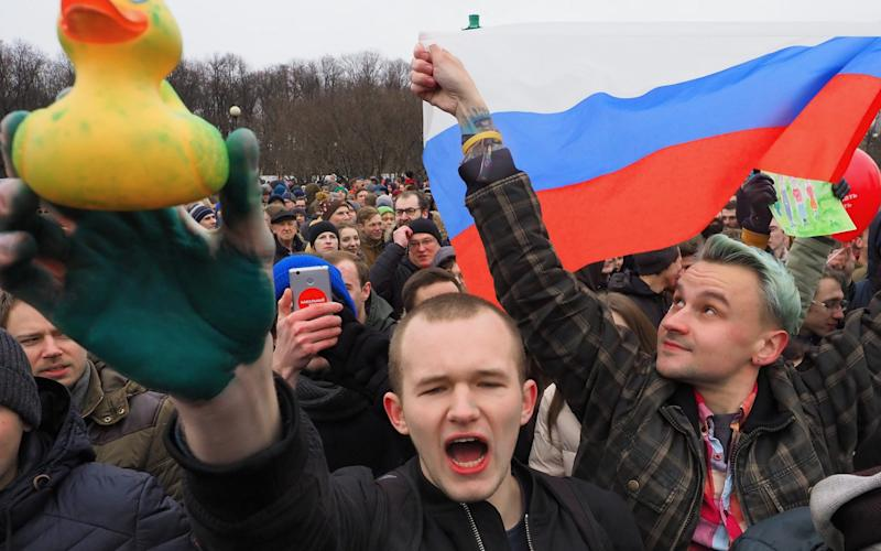 Young people have been at the forefront of recent protests against Putin  - Kommersant