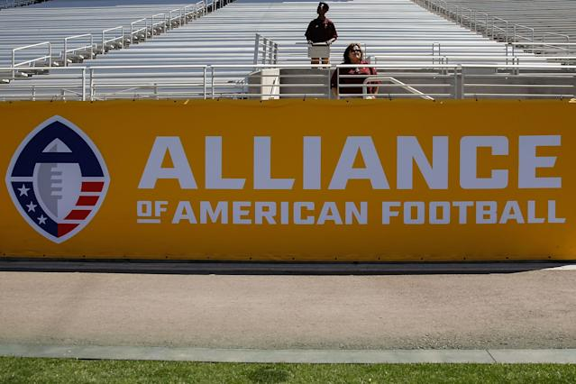 The Alliance of American Football suspended operations this week, which came as a surprise to coaches and the league's players. (Getty Images)