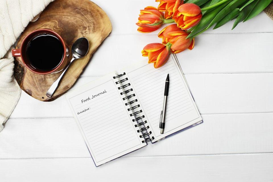 "<p>In this instance, keeping a food diary isn't about tracking calories or restricting yourself. It's more about helping you figure out how specific foods make you feel, and it helps you focus more on what you're eating. </p><p>""Paying attention to your body and knowing which foods make you feel good and which ones don't is one of the most valuable aspects of intuitive eating,"" Axelrod says. ""Do you get bloated after you have a glass of milk? Do you get tired after you have a bagel? Do you get itchy after you have too much sugar? What foods make you feel great? What foods don't?"" </p><p>Jot down your feelings in your diary and you'll eventually make the connections.</p>"