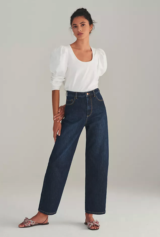 Pilcro The Column Straight Jeans. Image via Anthropologie.
