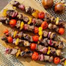 <p>These easy grilled beef & vegetable kebabs are not only delicious--they're economical too. Tri-tip is an inexpensive and flavorful cut of beef that takes beautifully to cooking over an open flame. Thread it onto skewers with colorful veggies and marinate for up to eight hours before cooking on the grill or over your campfire. Either way, it's a healthy and tasty summer meal.</p>