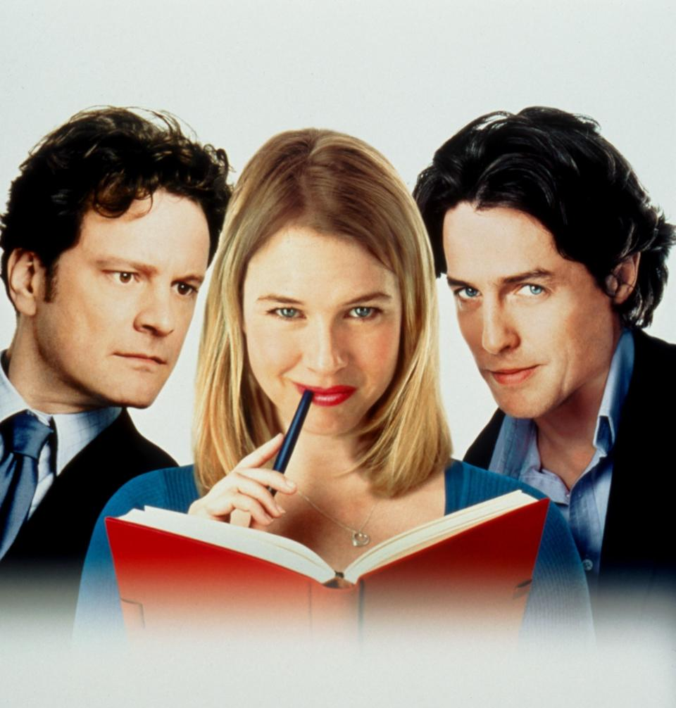 Poster for the film with Colin Firth, Renée Zellweger, and Hugh Grant