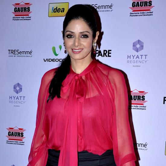 Sridevi at the Filmfare Nominations Bash.