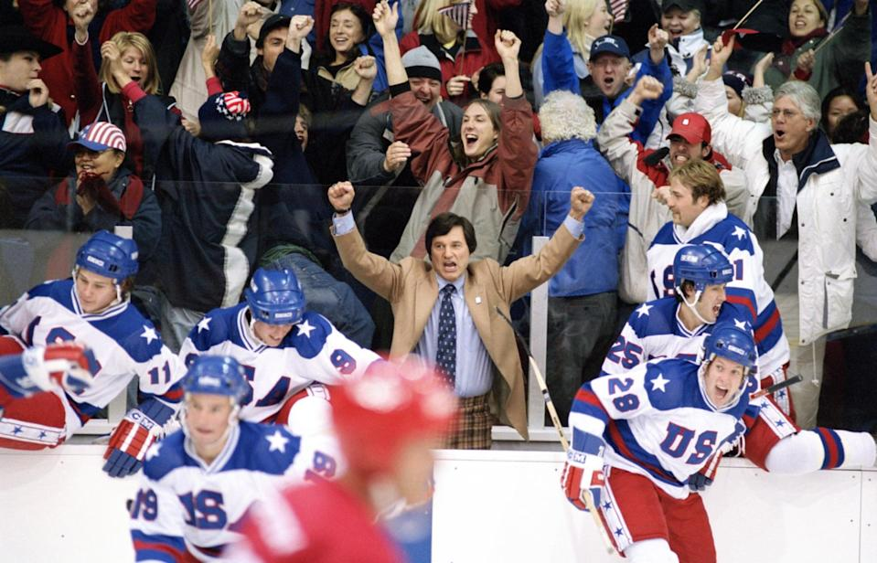"""<p><strong>What it's about:</strong> """"US hockey coach Herb Brooks unites a motley crew of college athletes and turns them into a force to be reckoned with at the 1980 Winter Olympics.""""</p> <p><strong>Ages it's best suited to:</strong> 8 and up</p> <p><a href=""""https://www.netflix.com/title/60033300"""" class=""""link rapid-noclick-resp"""" rel=""""nofollow noopener"""" target=""""_blank"""" data-ylk=""""slk:Watch Miracle here!"""">Watch <strong>Miracle</strong> here!</a></p>"""