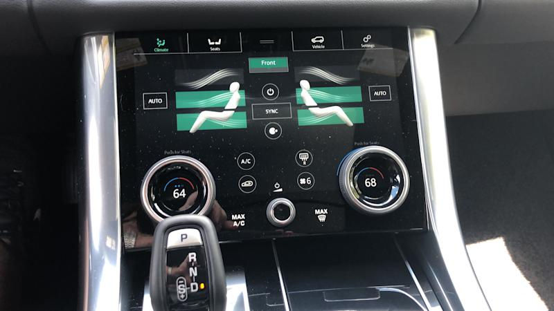 Range Rover has innovative climate controls.