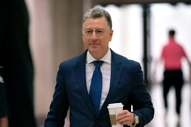 Kurt Volker, a former special envoy to Ukraine, arrives for a closed-door interview with House investigators, as House Democrats proceed with the impeachment inquiry of President Donald Trump, at the Capitol in Washington, Oct. 3, 2019.