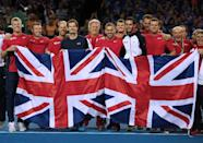 Britain's Davis Cup team is due to play Belgium in the final on November 27-29, 2015 (AFP Photo/Ian MacNicol)