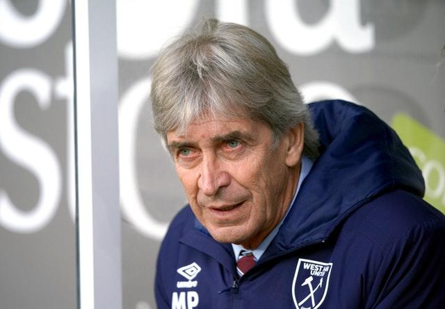 Manuel Pellegrini saw the pressure eased on him with victory (Ian Hodgson/PA)