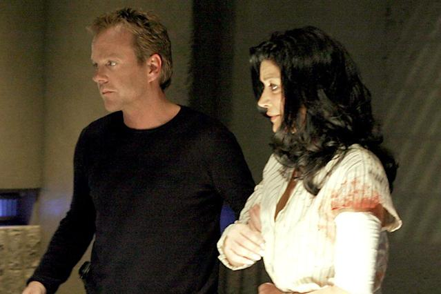 """Kiefer Sutherland and Shohreh Aghdashloo in the """"Day 4: 8:00pm-9:00pm"""" episode of """"24."""""""