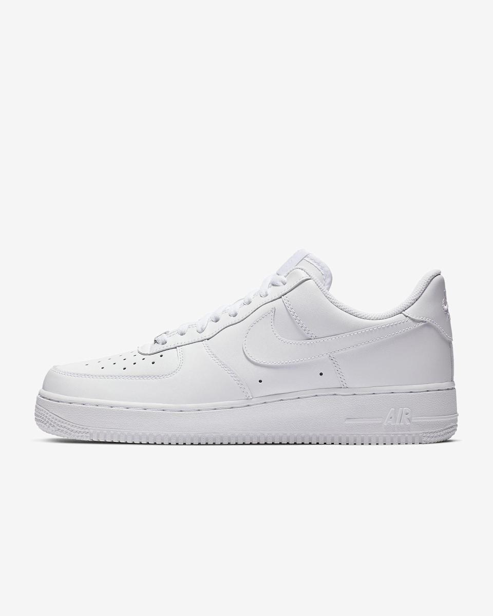 """<p><span>Nike Air Force 1 '07 Shoes</span> ($90)</p> <p>""""White sneakers are obviously a shoe staple, but the platform version of these classic Nike's make them perfect to pair with jeans and a tee or a dress."""" - Kelsey Kennick, editorial operations manager</p>"""