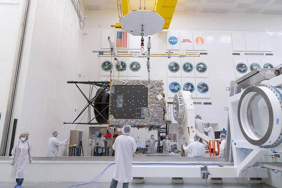 The Solar Electric Propulsion (SEP) Chassis, a main component of NASA's Psyche spacecraft was delivered to JPL, where assembly, test, and launch operations are underway.NASA/JPL-Caltech