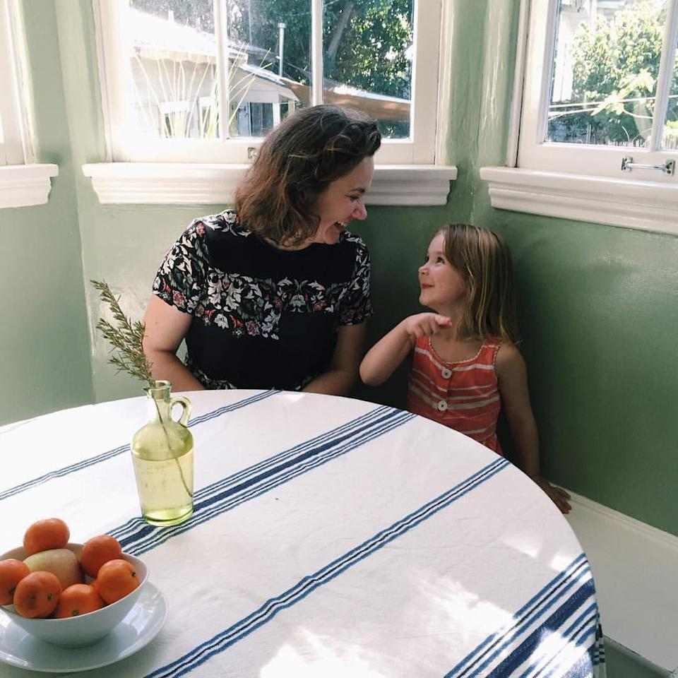 The author and her daughter.