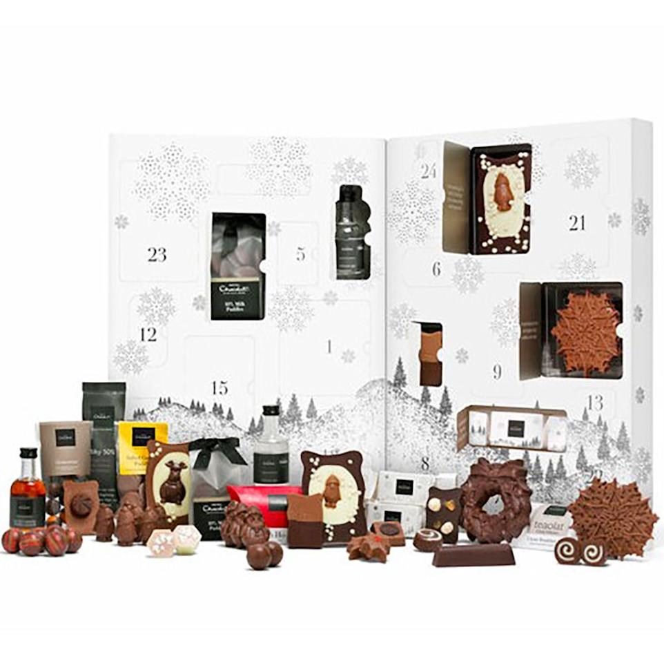 "<p>Because why would you choose between an <a href=""https://www.cosmopolitan.com/uk/worklife/g12216258/best-alcohol-advent-calendars/"" target=""_blank"">alcoholic advent calendar</a> and a chocolate one when you can have both? Hotel Chocolat's Grand Advent Calendar certainly lives up to its name, stuffed full of everything from Salted Caramel Vodka Liqueur to crackers filled with pecan praline. We want. </p><p><strong><em><a class=""body-btn-link"" href=""https://go.redirectingat.com?id=127X1599956&url=https%3A%2F%2Fwww.hotelchocolat.com%2Fuk%2Flarge-advent-calendar.html&sref=http%3A%2F%2Fwww.cosmopolitan.com%2Fuk%2Fworklife%2Fg4194%2Fbest-chocolate-advent-calendars%2F"" target=""_blank"">SHOP NOW</a> Hotel Chocolat, £68.00</em></strong></p>"