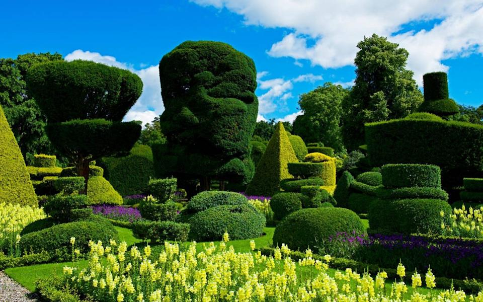 The topiary gardens at Levens Hall, South Lakeland, Cumbria, England UK - John Morrison
