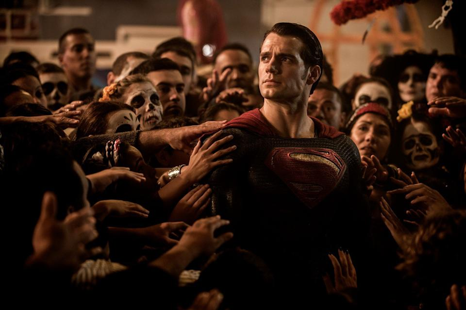 Cavill in Batman v Superman: Dawn of Justice (Credit: Warner Bros)