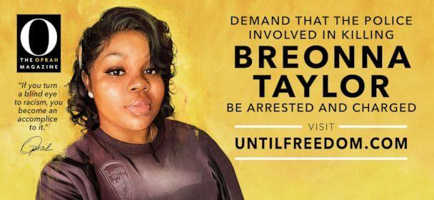 PHOTO: Oprah and 'O, The Oprah Magazine' have erected 26 billboards with the September cover image of Breonna Taylor across her hometown of Louisville, Kentucky, beginning Aug. 6, 2020. (Courtesy