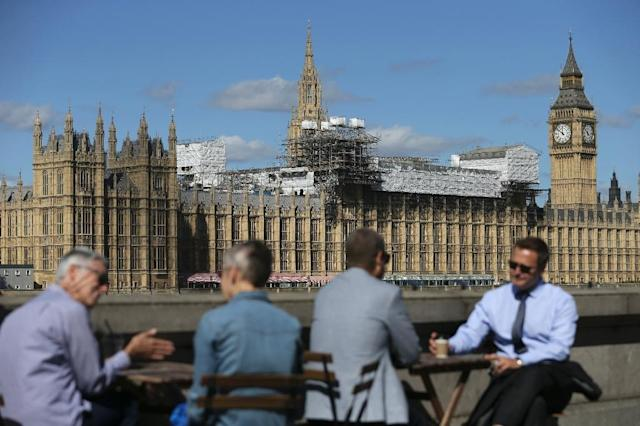 London's Houses of Parliament, also known as the Palace of Westminster, serve both as the centre of British politics and iconic tourist attractions, famed for the Big Ben clock tower (AFP Photo/Daniel Leal-Olivas)