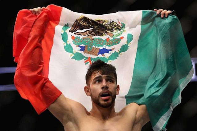 Yair Rodriguez's win over B.J. Penn on Jan. 15 was his eighth straight victory. (Getty)