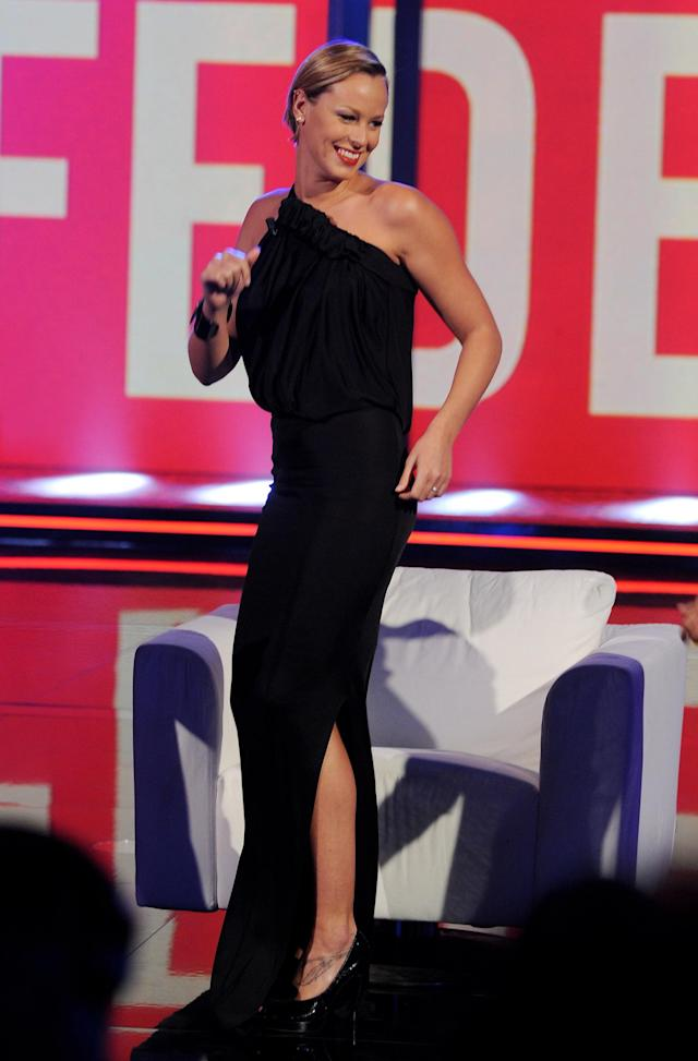 MILAN, ITALY - SEPTEMBER 14: Federica Pellegrini attends 'Chiambretti Night' Italian Tv Show held at Canale 5 Studios on September 14, 2010 in Milan, Italy. (Photo by Stefania D'Alessandro/Getty Images)