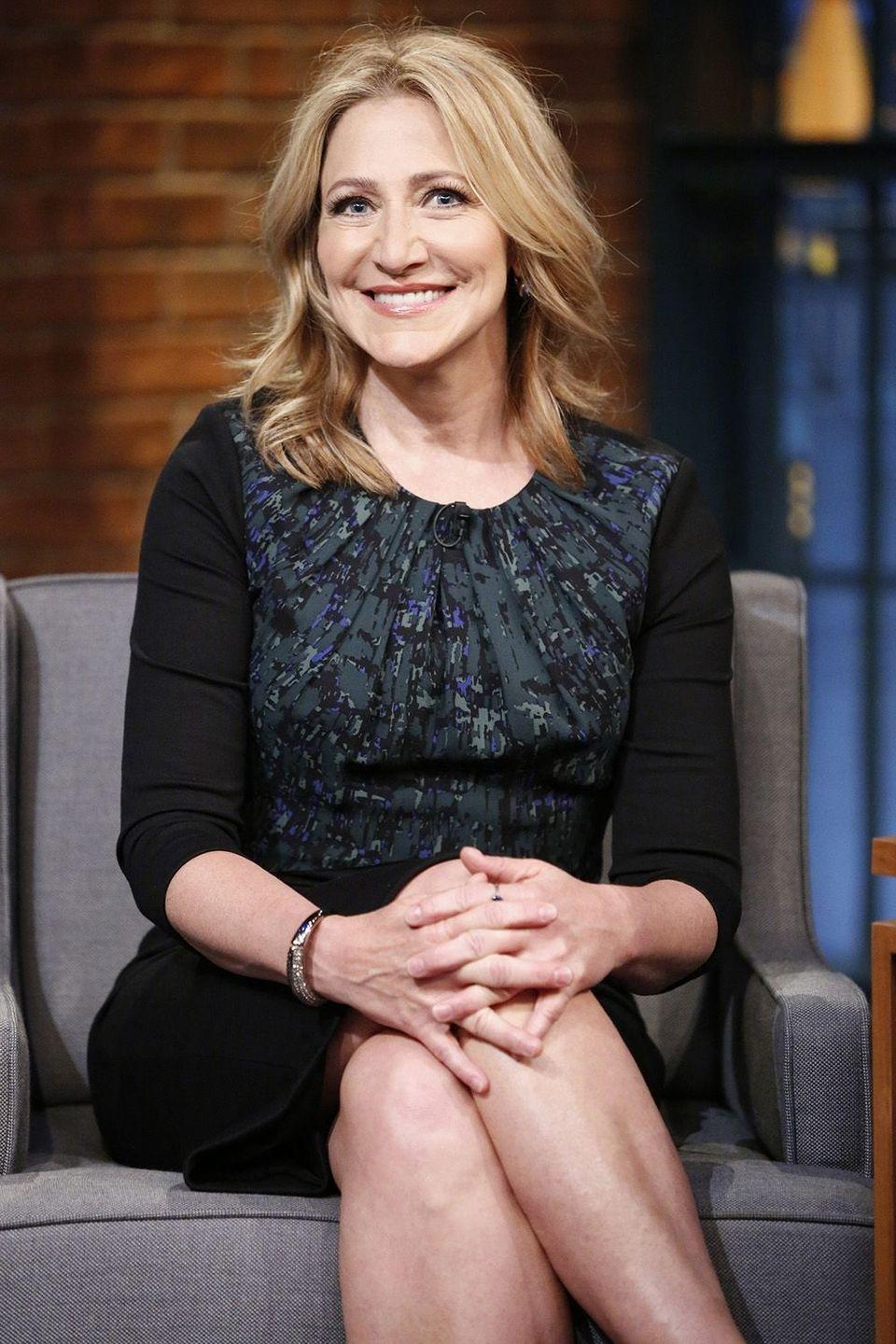 """<p>The <em>Nurse Jackie</em> star has been sober for almost 25 years now and reveals she's been able to develop her own steadiness by admitting, """"I had a lot of support. Still do. But they couldn't go through it for me,""""</p><p><em>[h/t <a href=""""http://nypost.com/2013/04/12/edie-falco-clean-sober/"""" rel=""""nofollow noopener"""" target=""""_blank"""" data-ylk=""""slk:The New York Post"""" class=""""link rapid-noclick-resp"""">The New York Post</a></em></p>"""