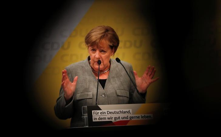 Merkel starts the CDU's election campaign rally for Germany's general election in Dortmund