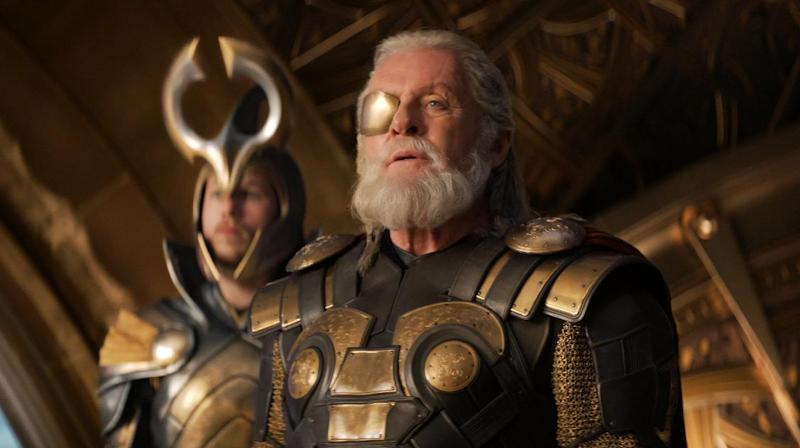 """This publicity photo released by Walt Disney Studios and Marvel shows Anthony Hopkins in a scene from """"Thor: The Dark World."""" (AP Photo/Walt Disney Studios/Marvel)"""