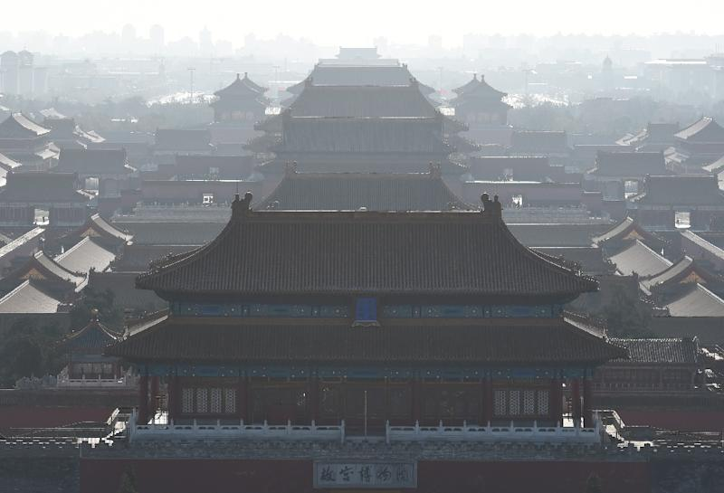 The Forbidden City, once home to China's emperors, photographed in Beijing on December 10, 2015 (AFP Photo/Greg Baker)