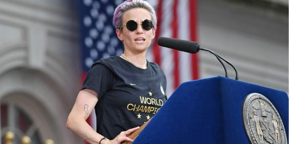 Rapinoe has used her status to speak out on social issues (Rex Features)