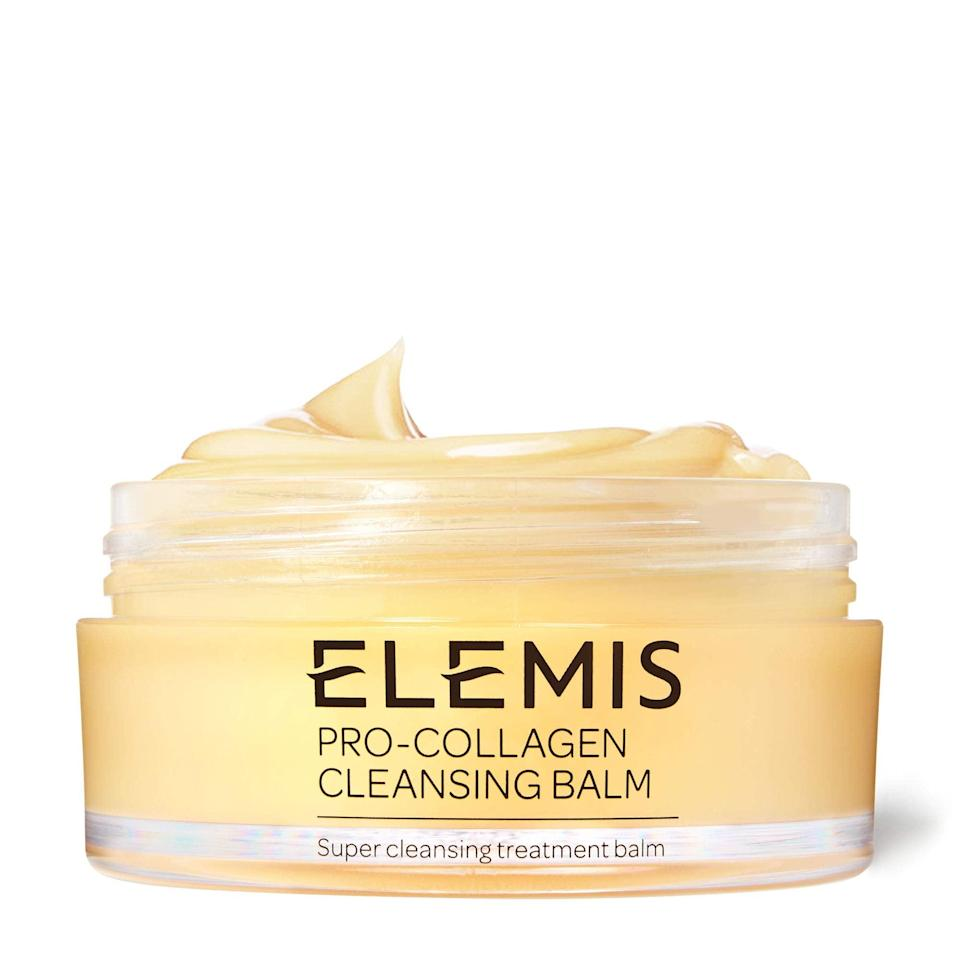 """<h2>Elemis</h2><br>Get 35% off all products<br><br><strong>Elemis</strong> Pro-Collagen Cleansing Balm, $, available at <a href=""""https://amzn.to/3vP9yAE"""" rel=""""nofollow noopener"""" target=""""_blank"""" data-ylk=""""slk:Amazon"""" class=""""link rapid-noclick-resp"""">Amazon</a>"""