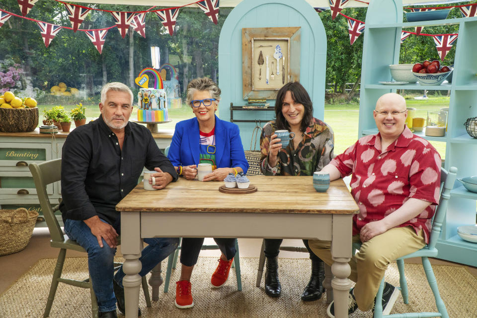 Great British Bake Off judges and presenters Paul, Matt, Prue and Noel. (Love Productions/Channel 4)