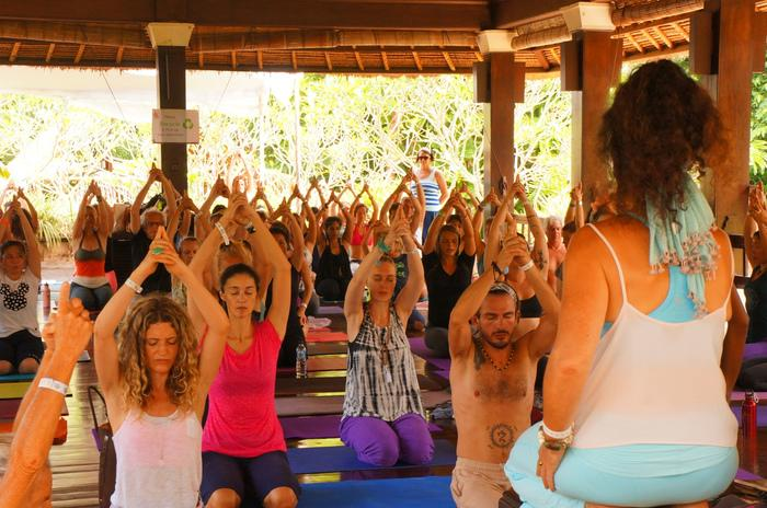 Ubud's yoga community stretches out