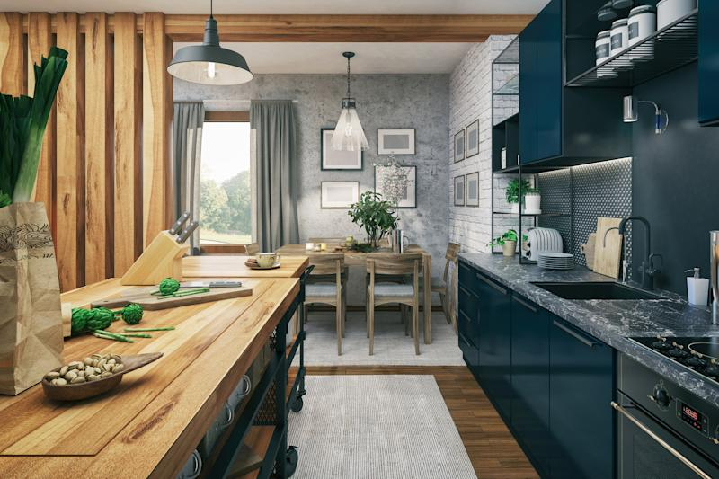 They may be Insta-popular but blue kitchen cupboards aren't a hit with everyone (Getty Images)
