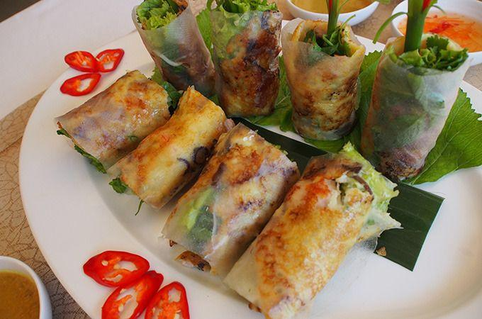 Learn to make your own Vietnamese spring rolls using fresh local produce at the Spice Spoons cooking school. Photo: Jody Phan