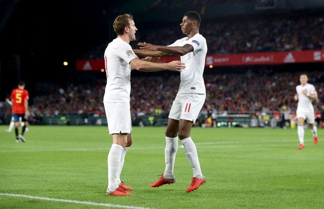 Harry Kane and Marcus Rashford are two of England's options up front