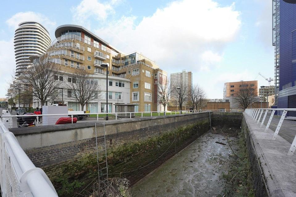 Wasted space: the dock was part of the Oyster Wharf mixed-use development site but has been empty for decades