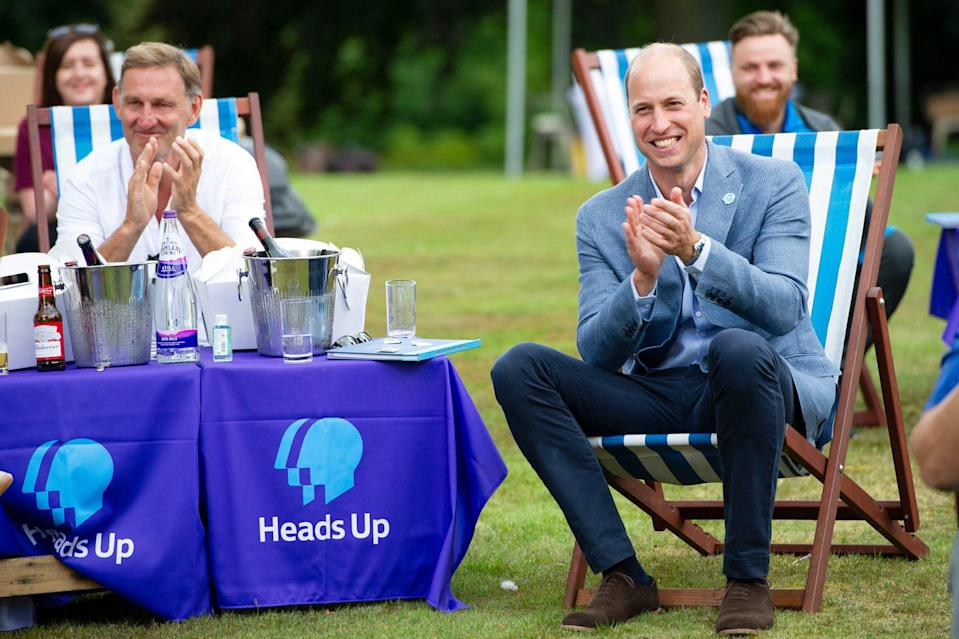 <p>Prince William hosts an outdoor screening of the Heads Up FA Cup Final on the Sandringham Estate on Saturday. </p>