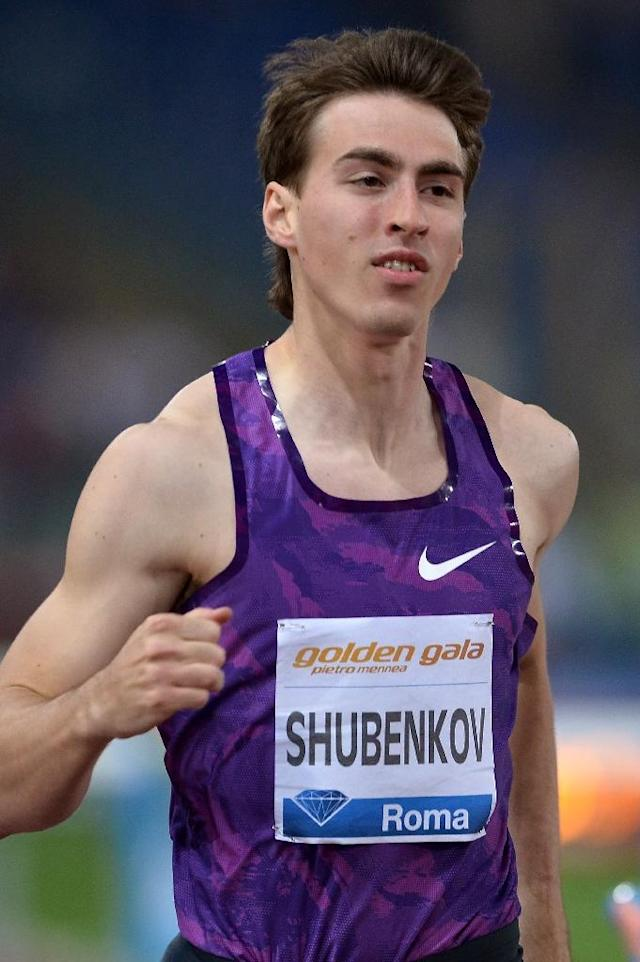 Russia's Sergey Shubenkov won the men's 110m hurdles event ahead of France's Garfield Darien in the fourth stage of IAAF Diamond League on June 4, 2015 in Rome (AFP Photo/Tiziana Fabi)