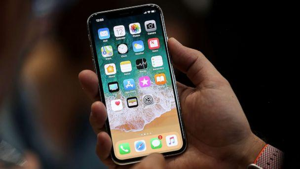 PHOTO: The new iPhone X is displayed during an Apple special event at the Steve Jobs Theatre on the Apple Park campus on Sept. 12, 2017 in Cupertino, Calif. (Justin Sullivan/Getty Images)