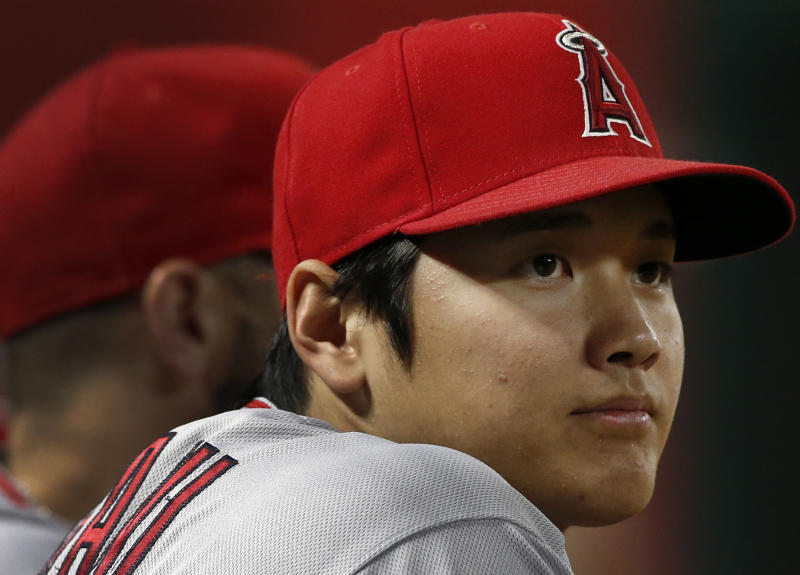 Los Angeles Angels star Shohei Ohtani has a chance to be full strength sooner than later despite elbow setback. (AP)