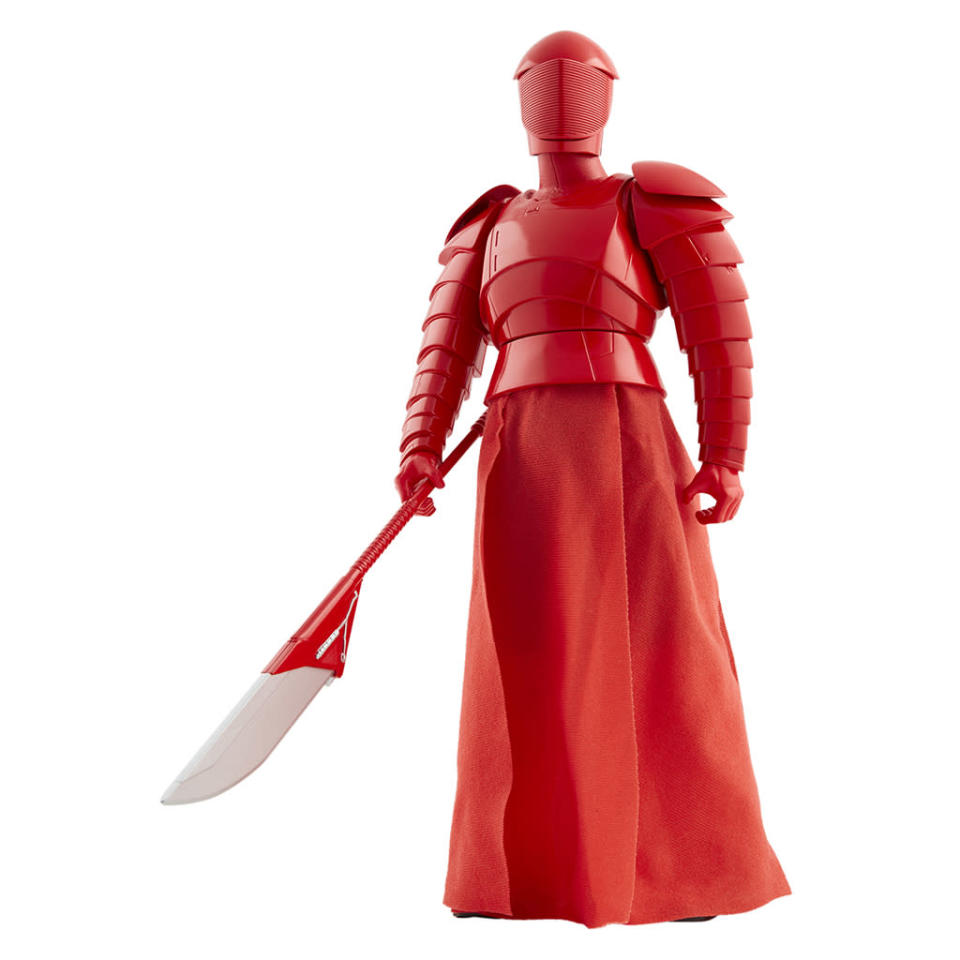 """<p>""""As the Supreme Leader of the First Order, Snoke stood atop an evil regime that mirrored many of the dark traditions of the Galactic Empire. As a striking example, Snoke was flanked by crimson-clad guardians, loyal protectors encased in ornate armor ready to defend the Supreme Leader from any threat."""" $19.99 (Photo: Jakks Pacific) </p>"""