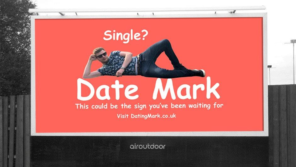 Mark Rofe is trialling a new way to find a date. [Photo: SWNS]