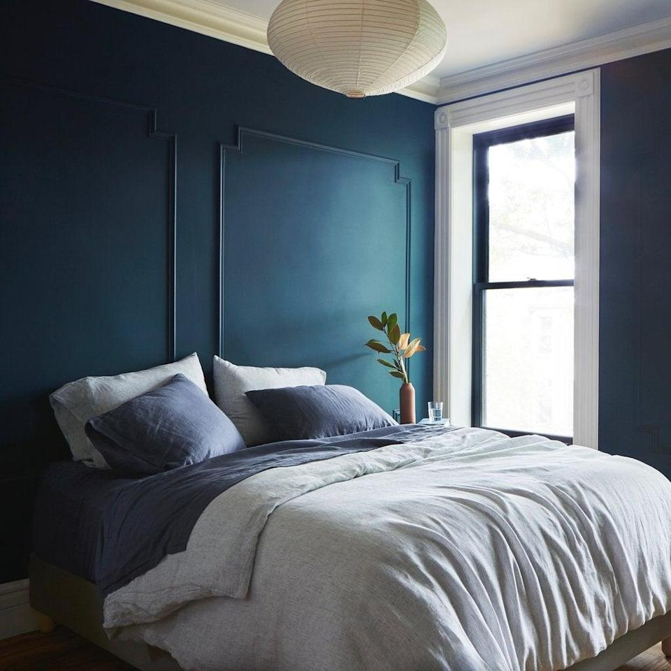 """<h3>The Citizenry </h3> <br>This beautiful brand, known for its vibrant lumbar pillows to bohemian-woven rugs and throws, is also home to a line of luxury sustainable bedding that comes certified by the <a href=""""https://www.global-standard.org/"""" rel=""""nofollow noopener"""" target=""""_blank"""" data-ylk=""""slk:Global Organic Textile Standard"""" class=""""link rapid-noclick-resp"""">Global Organic Textile Standard</a> — an organization that protects and maintains the highest sustainable and social production standards.<br><br><em>Shop <strong><a href=""""https://www.the-citizenry.com/"""" rel=""""nofollow noopener"""" target=""""_blank"""" data-ylk=""""slk:The Citizenry"""" class=""""link rapid-noclick-resp"""">The Citizenry</a></strong></em><br><br><strong>The Citizenry</strong> Stonewashed Linen Bed Bundle - Midnight Series, $, available at <a href=""""https://go.skimresources.com/?id=30283X879131&url=https%3A%2F%2Fwww.the-citizenry.com%2Fproducts%2Fstonewashed-linen-bed-set-navy-stripes"""" rel=""""nofollow noopener"""" target=""""_blank"""" data-ylk=""""slk:The Citizenry"""" class=""""link rapid-noclick-resp"""">The Citizenry</a><br><br><br>"""