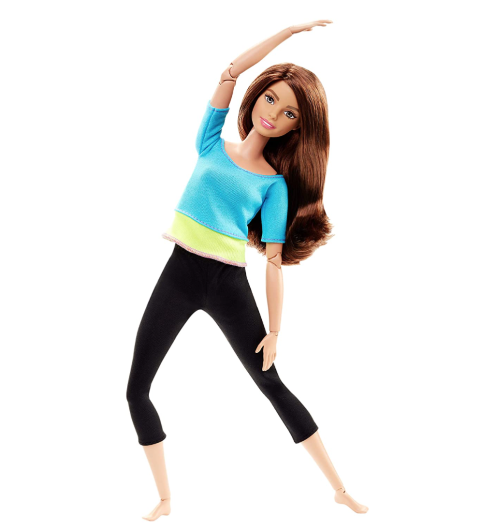 Barbie Made to Move Doll. Image via Amazon.