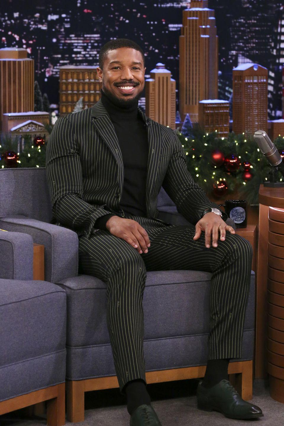 <p>Wearing a turtleneck under a suit is one of the simplest ways to change up a whole vibe. Highly recommend for the holiday season.</p>